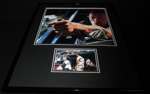 Dwayne Johnson The Rock Signed Framed 16x20 Photo Display JSA Furious 7