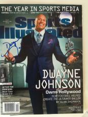 Dwayne Johnson The Rock Signed Sports Illustrated Magazine Ballers In Person Coa