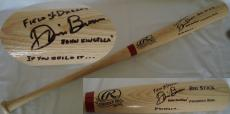 Dwier Brown John Kinsella Hand Signed/Autographed Rawlings Baseball Bat - Field of Dreams