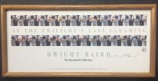 Dwight Baird Signed Litho Poster At Twilight's Last Gleaming Baseball Framed
