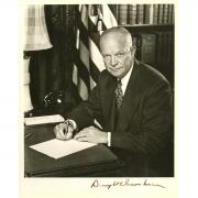 Dwight D Eisenhower Signed 8x10 Photo Beckett COA