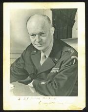 "Dwight D. Eisenhower ""To Sgt. Joseph Ghilark"" Signed 6x8 Photo PSA/DNA #T10624"