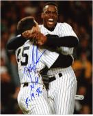 "Dwight Doc Gooden New York Yankees Autographed 8"" x 10"" No-Hitter Celebration Photograph with NH 5-14-96 Inscription"
