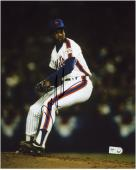 "Dwight Doc Gooden New York Mets Autographed 8"" x 10"" Vertical Pitching Photograph"