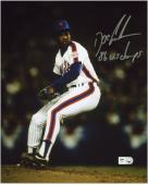 "Dwight Doc Gooden New York Mets Autographed 8"" x 10"" Photograph with 86 WS Champs Inscription"