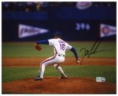 "Dwight Doc Gooden New York Mets Autographed 8"" x 10"" Horizontal Pitching Photograph"