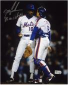 "Dwight ""Doc"" Gooden New York Mets with Gary Carter Autographed 8"" x 10"" Photograph with ""86 WS Champs"" Inscription"