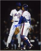"Dwight Doc Gooden New York Mets with Gary Carter Autographed 8"" x 10"" Photograph"