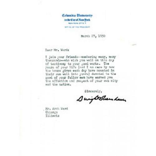 Dwight Eisenhower Autographed / Signed Letter
