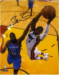 Dwyane Wade Miami Heat 2012 Finals Champs Autographed 8'' x 10'' Over Harden Photograph - Mounted Memories  - Mounted Memories