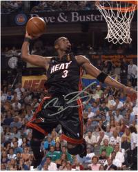"Dwyane Wade Miami Heat Autographed 8"" x 10"" Dunking Photograph"