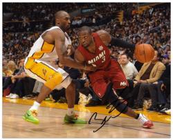 "Dwyane Wade Miami Heat Autographed 8"" x 10"" vs. Kobe Bryant Horizontal Photograph"