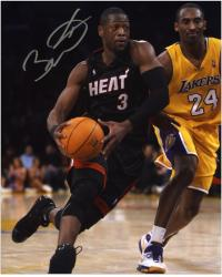 Dwyane Wade Miami Heat Autographed 8'' x 10'' vs. Kobe Bryant Vertical Photograph - Mounted Memories