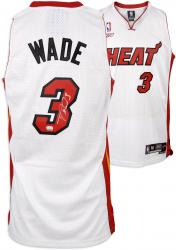 Dwyane Wade Miami Heat Autographed White Swingman Jersey - Mounted Memories