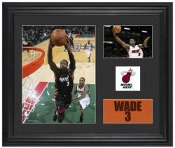 Dwyane Wade Miami Heat Framed 2-Photograph Collage with Team Logo - Mounted Memories