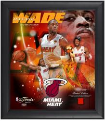 Miami Heat Dwyane Wade 2012 NBA Finals Champions Framed Collage with Game-Used Jersey - Limited Edition of 500 - Mounted Memories