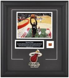 "Miami Heat Dwyane Wade 8"" x 10"" Photo with Piece of 2010 All-Star Gameball - Mounted Memories"