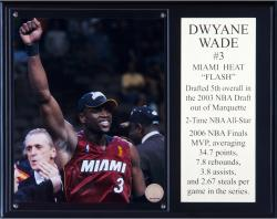 Miami Heat Dwyane Wade Sublimated 12'' x 15'' Plaque - Mounted Memories