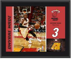 "Miami Heat Dwyane Wade 10"" x 13"" Sublimated Plaque - Mounted Memories"