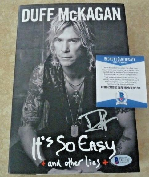 Dyff McKagan Guns & Roses Signed Autographed HB Book Beckett BAS Certified