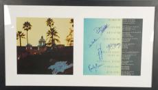 Eagles Group Signed Autographed Hotel California Album Walsh Henley Frey JSA