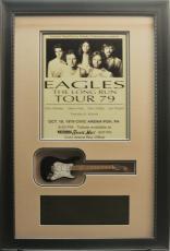 Eagles 10x14 Framed Concert Bill w/ Mini Guitar