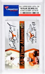 Earl Campbell/Ricky Williams Autographed University Of Texas Longhorns 2011 Upper Deck #ATAD-CW Card with HT 98
