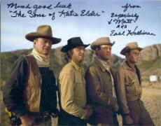 Earl Holliman autographed 8x10 photo (Sons of Katie Elder pictured with John Wayne) Image #SC1