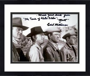 Earl Holliman autographed 8x10 photo (Sons of Katie Elder pictured with John Wayne) Image #SC2
