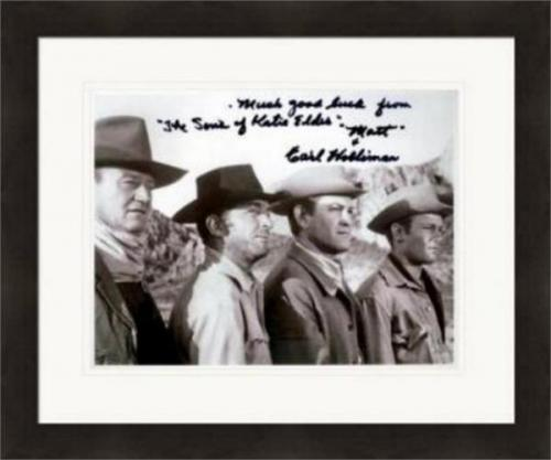 Earl Holliman autographed 8x10 photo (Sons of Katie Elder pictured with John Wayne) #SC2 Matted & Framed