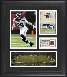 Earl Thomas Seattle Seahawks Framed 15'' x 17'' Collage with Game-Used Football - Mounted Memories