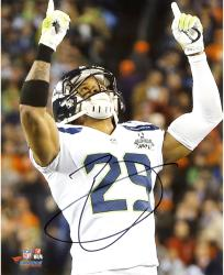 "Earl Thomas Seattle Seahawks Super Bowl XLVIII Champions Autographed 8"" x 10"" Fingers Up Photograph"