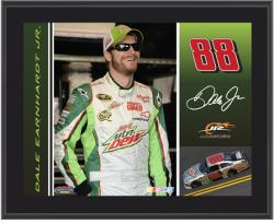 "Dale Earnhardt Jr. Diet Mountain Dew 2012 Sublimated 10 1/2"" x 13"" Plaque - Mounted Memories"
