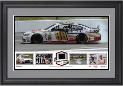 Dale Earnhardt Jr. 2014 Pocono 400 at Pocono Raceway Race Winner Framed Panoramic with Race-Used Tire-Limited Edition of 400 - Mounted Memories