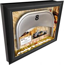 Dale Earnhardt Jr. Daytona International Speedway Shadow Box with Metal 8 Seat - Mounted Memories