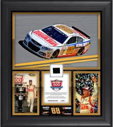Dale Earnhardt Jr. 2014 Daytona 500 Champion Framed 15'' x 17'' Collage with Race-Used Tire-Limited Edition of 500 - Mounted Memories