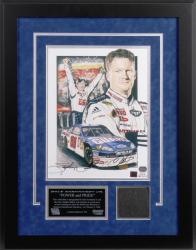 Dale Earnhardt, Jr. Bud Shootout Autographed Lithograph with Piece of Tire