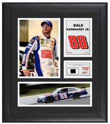 Dale Earnhardt, Jr. Framed 15'' x 17'' with Race-Used Tire - Mounted Memories