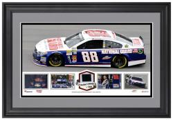 Dale Earnhardt Jr. Framed Panoramic with Race-Used Tire-Limited Edition of 500 - - Mounted Memories