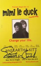 EARTHA KITT (d.2008) signed  Mimi le duck Preview Card-