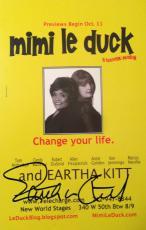 EARTHA KITT (d.2008) signed  Mimi le duck Preview Card-