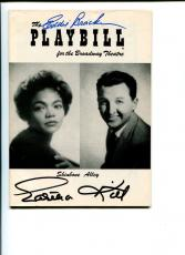Eartha Kitt Eddie Bracken Shinebone Alley Signed Autograph Photo Playbill