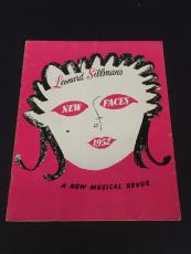 Eartha Kitt New Face of 1952 Musical Revue Signed Autograph Original Program