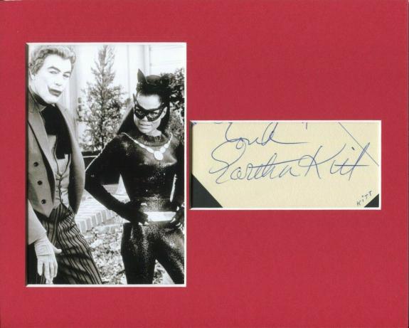 Eartha Kitt Sexy Batman Catwoman Star Signed Autograph Photo Display W/ Joker