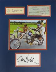 Easy Rider (3) Multi-Signed Matted Display-Nicholson, Fonda, Hopper PSA/DNA COA