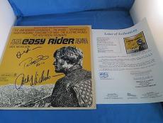 Easy Rider Cast Signed Sound Track Nicholson Hopper Fonda JSA COA LOA Autograph