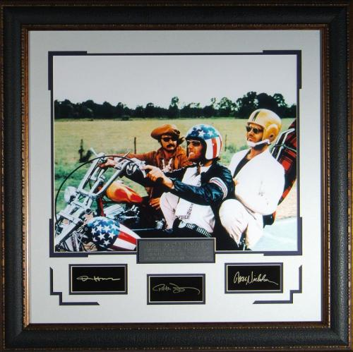 Easy Rider Replica Autographed Framed Wall Decor