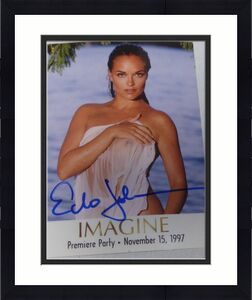 Echo Johnson Signed 1997 Mystique Magazine Imagine Premiere Party Card Playboy