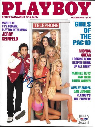 Echo Johnson Signed October 1993 Playboy Magazine PSA/DNA COA Playmate Autograph