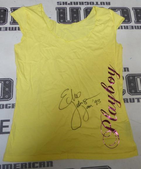 Echo Johnson Signed Playboy Shirt PSA/DNA Miss January 1993 Magazine Playmate